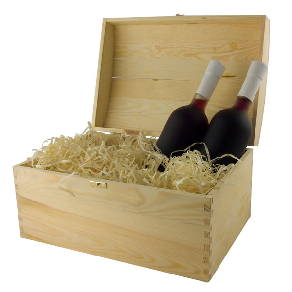2KU wooden trunk for wines