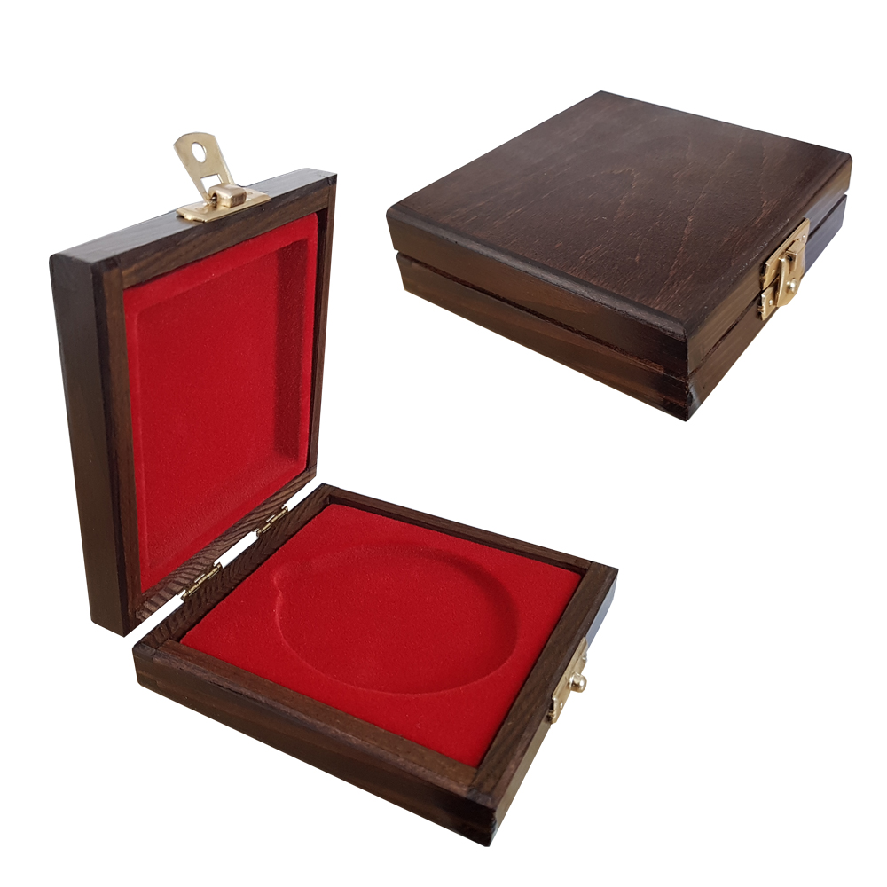 Wooden box for medals