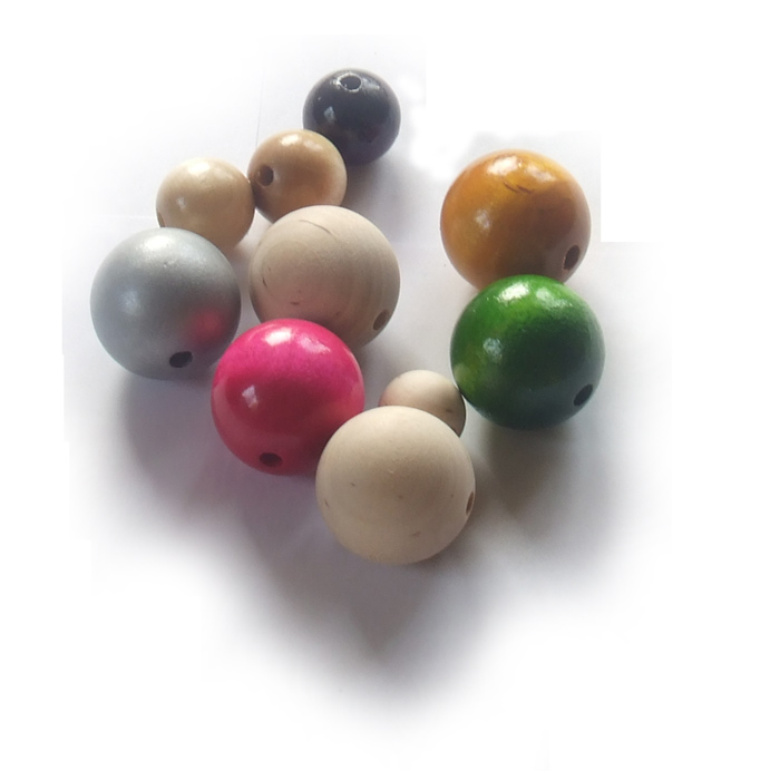 Beads, wooden beads